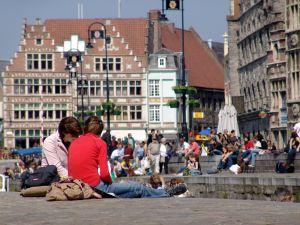 studenten en jongeren in Gent